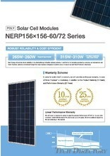 POLY Solar Cell Modules NERP156×156-60/72 Series