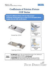"Coefficient of friction fixture ""COF series"""