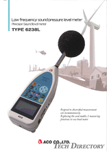 "Measurement act precision sound level meter/Low frequency sound pressure level meter ""TYPE 6238L"""