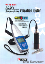 "Compact vibration level meter ""TYPE 3116"""